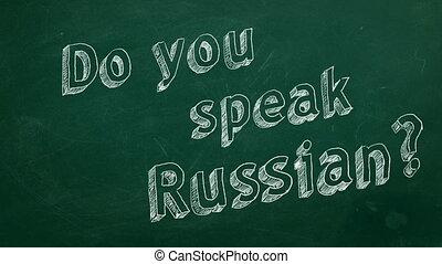 """Do you speak Russian? - Hand drawing """"Do you speak Russian?""""..."""