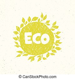 Hand drawing eco logo templates.
