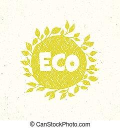 Hand drawing eco logo templates.
