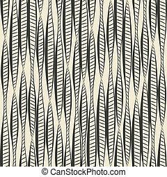 hand drawing ethnic pattern - vector illustration. eps 8