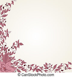 Hand drawing floral background - vector illustrator of Hand...