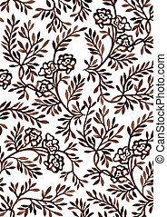 Hand-drawing floral ornament