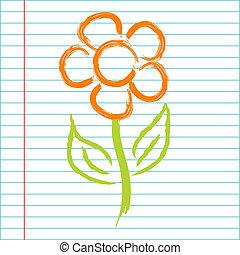 Hand drawing flower illustration