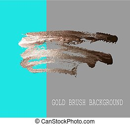 hand drawing gold brush stroke paint spot