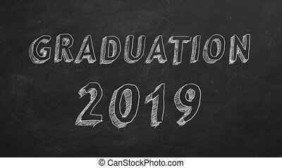 "Graduation 2019 - Hand drawing ""Graduation 2019"" on ..."