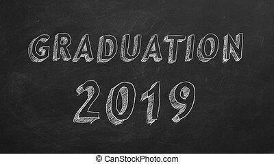 "Graduation 2019 - Hand drawing ""Graduation 2019"" on..."