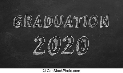 "Graduation 2020 - Hand drawing ""Graduation 2020"" on ..."