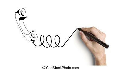 hand drawing handset
