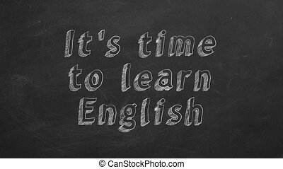 """It's time to learn english - Hand drawing """"It's time to..."""