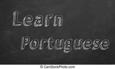 """Learn Portuguese - Hand drawing """"Learn Portuguese"""" on ..."""