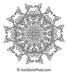 Hand drawing mandala element Vector illustration. The best...