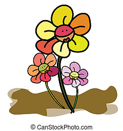 hand drawing nature flower