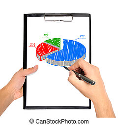 hand drawing pie chart