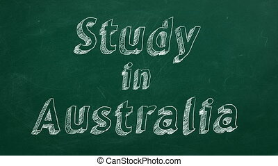 "Study in Australia - Hand drawing ""Study in Australia"" on..."