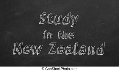 """Study in New Zealand - Hand drawing """"Study in New Zealand""""..."""
