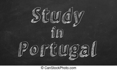 """Study in Portugal - Hand drawing """"Study in Portugal"""" on..."""