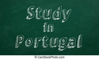 "Study in Portugal - Hand drawing ""Study in Portugal"" on..."