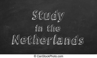 "Study in the Netherlands - Hand drawing ""Study in the..."