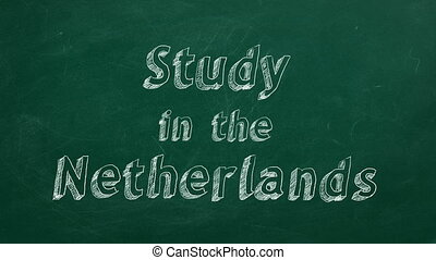 """Study in the Netherlands - Hand drawing """"Study in the..."""