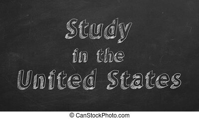 "Study in the United States - Hand drawing ""Study in the..."