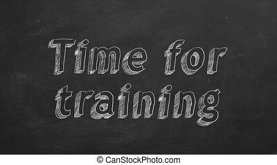 Time for training