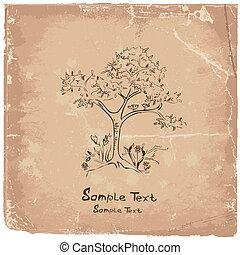 hand-drawing tree