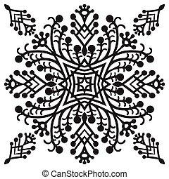 Hand drawing zentangle mandala element - Hand drawing...