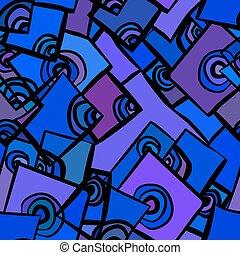 hand-drawn, 抽象的, 幾何学的, 背景