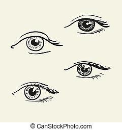 hand-drawn, 目
