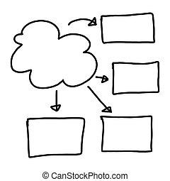 Hand drawn a graphics symbols geometric shapes graph
