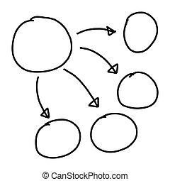 Hand drawn a graphics symbols geometric shapes
