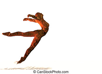 hand drawn abstract female ballet dancer
