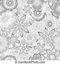 Hand drawn abstract vector floral background.