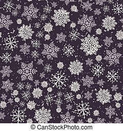 Hand drawn abstract winter snowflakes pattern. Stylish crystal stars. White ecru background. Elegant simple holiday all over print. Festive gift wrap paper yule illustration. Seamless vector swatch