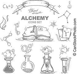 alchemy icons set
