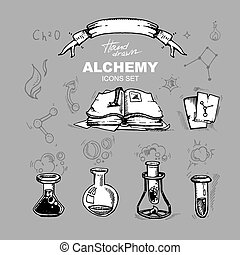 alchemy icons set