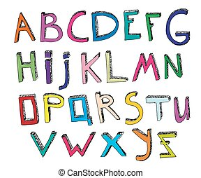Hand Drawn Alphabet 01 A