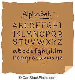 hand drawn alphabet-8