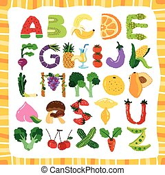 alphabet of fruit