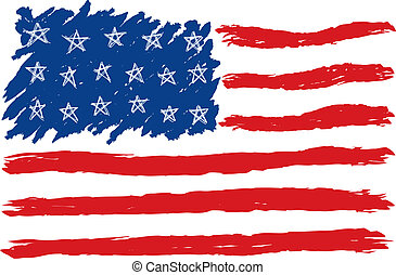 Hand Drawn American Flag