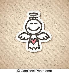 hand drawn angel