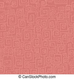 Hand drawn antique meander seamless pattern. Natural...