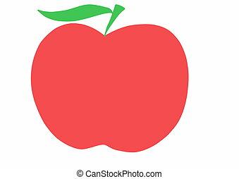 hand drawn apple