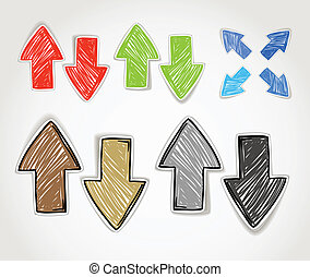 Hand-drawn arrow symbols collection