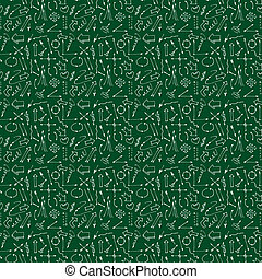 Hand drawn arrows and lines seamless pattern. Vector illustration. Beautiful background. Endless texture can be used for printing onto fabric and paper or scrap booking.