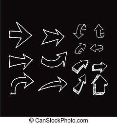 hand drawn arrows Illustration design