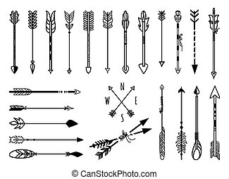 Hand drawn arrows set - Big set of hand drawn arrows....