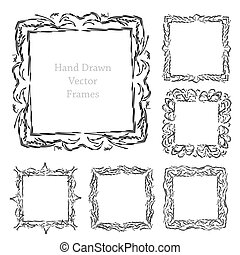 hand drawn art frames