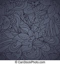 hand-drawn, astratto, seamless, struttura
