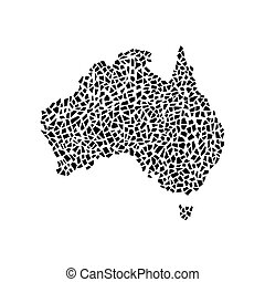 Australia map, polygonal pattern